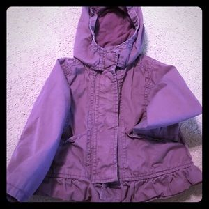 Old Navy Girls 3T Purple Ruffle Jacket